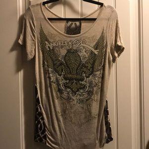 Angles & Diamonds Sexy Seethru Back T-Shirt